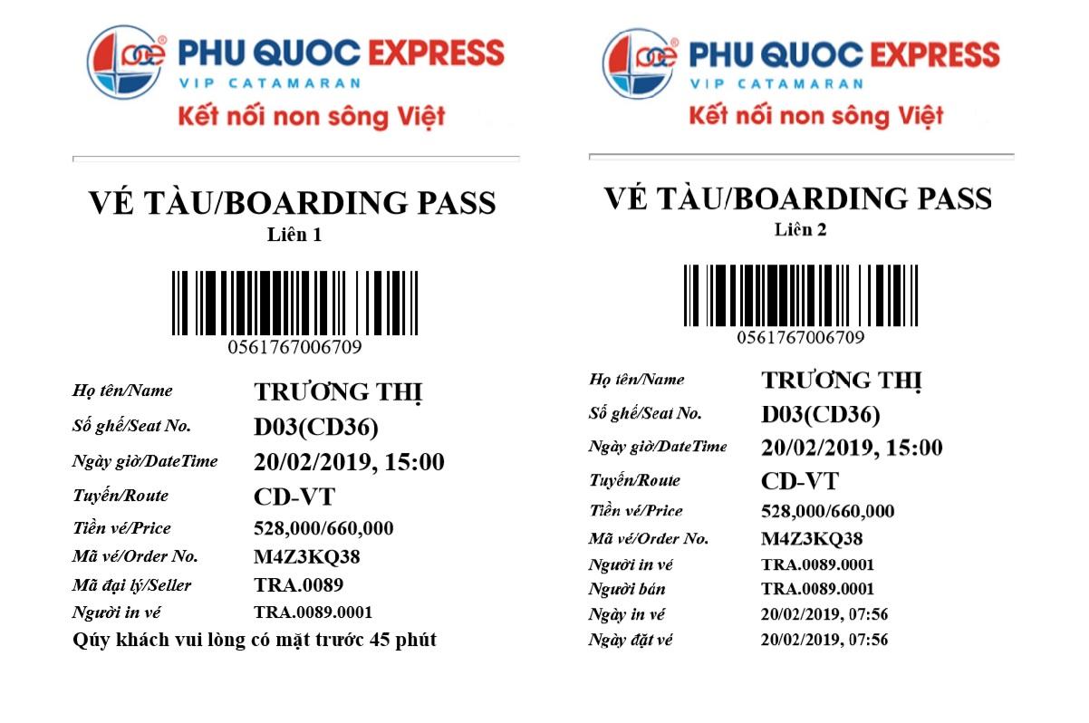Vé tàu cao tốc hạng ECO Vũng Tàu đi Côn Đảo (từ Thứ 2 - Thứ 5): giá 660.000 đồng/lượt