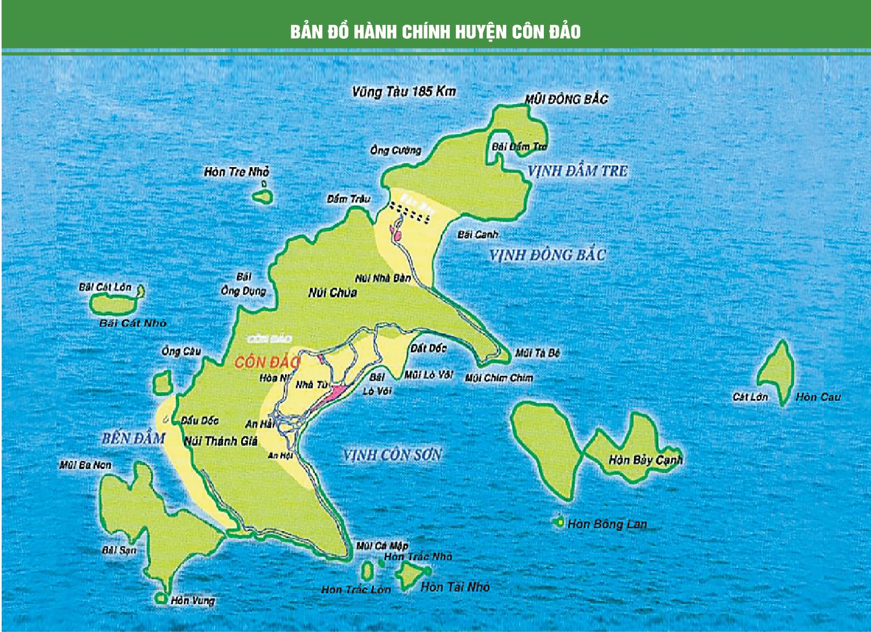 Bản đồ hành chính huyện Côn Đảo