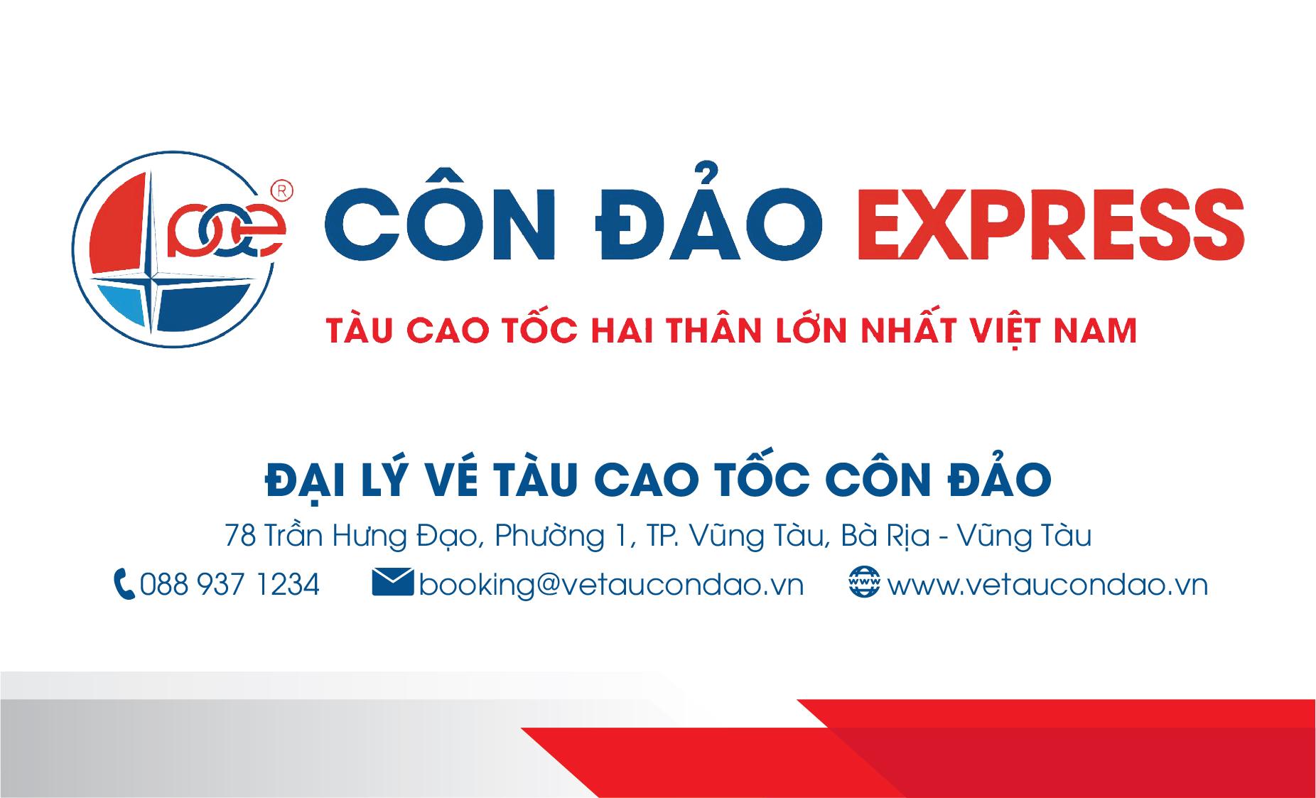 Thông tin namecard mua vé tàu cao tốc Côn Đảo Express
